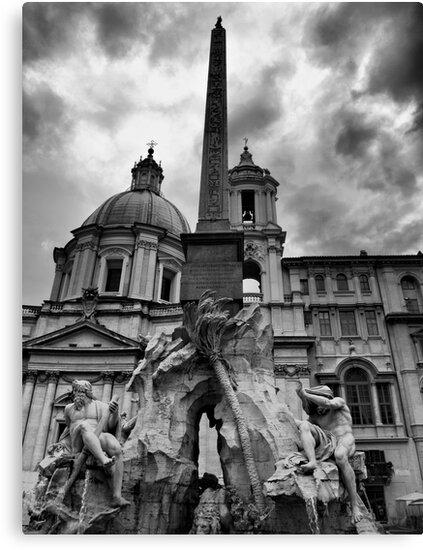 La fontana dei quattro fiumi by Andrea Rapisarda