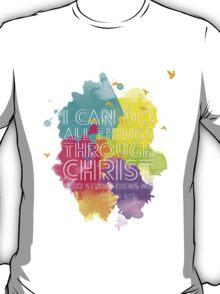 Philippians 4:13 (White Version) T-Shirt