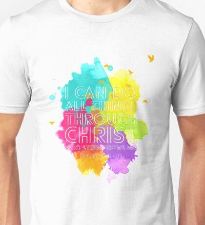 Philippians 4:13 (White Version) Unisex T-Shirt