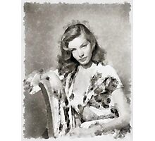 Lauren Bacall by John Springfield Photographic Print