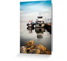 Love Boats AT A Turkish Dock (Imagine us together) Greeting Card