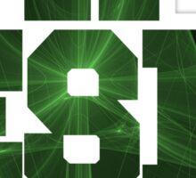 Emerald Triangle   Too Fresh Shirts [Fractal Art] Sticker