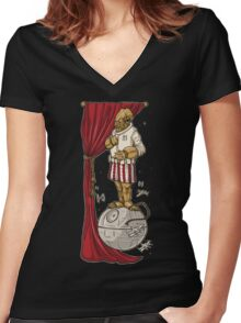 Foolish Mortals...It's a Trap! Women's Fitted V-Neck T-Shirt
