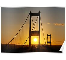Severn Bridge Sunset Poster