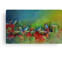 Birds of a Feather - water media painting  Canvas Print