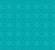 Turquoise Snow Flakes by Lena127