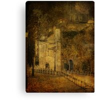 Lovers in Montmartre Canvas Print