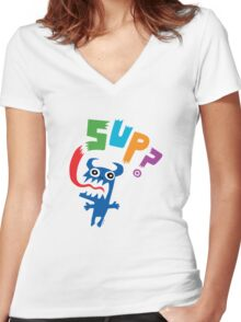 Sup? light colors Women's Fitted V-Neck T-Shirt