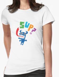 Sup? light colors Womens Fitted T-Shirt