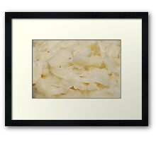 Cooked Yuca Framed Print