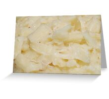 Cooked Yuca Greeting Card