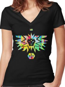 Noble House of the winged Lion Women's Fitted V-Neck T-Shirt