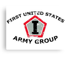First United States Army Group (FUSAG) - Stressed Canvas Print