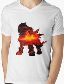 Entei used eruption Mens V-Neck T-Shirt