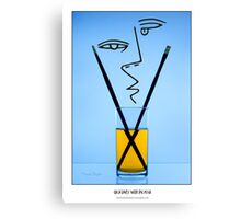 Cocktails with Picasso - Titled print Canvas Print
