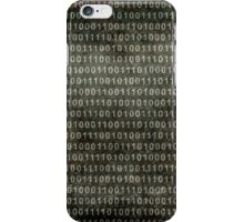 Binary Code - Distressed textured version iPhone Case/Skin