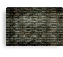 Binary Code - Distressed textured version Canvas Print