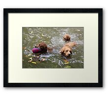 Water Play With Family - 10 Framed Print