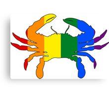 Maryland Flag Crab - Rainbow Canvas Print