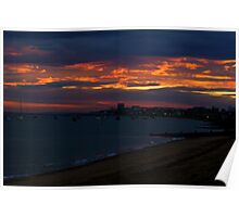 sun set over southend Poster
