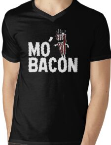 MO' BACON on darks Mens V-Neck T-Shirt