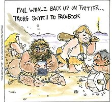 Prehistoric Social Networking by Londons Times Cartoons by Rick  London