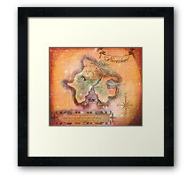 Neverland Map  Framed Print