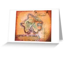 Neverland Map  Greeting Card