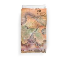 Neverland Map  Duvet Cover