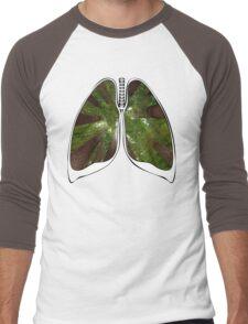 Lungs - Redwood Forest Men's Baseball ¾ T-Shirt