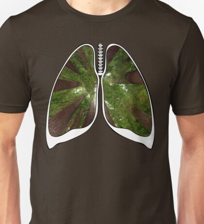 Lungs - Redwood Forest Unisex T-Shirt
