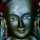 old statue. buddhist monastery india by tim buckley | bodhiimages