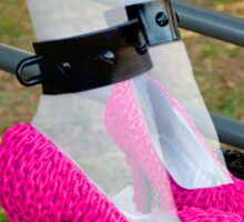 Ghostly Pink Pumps Sticker