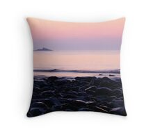 The Nubble at Sunrise Throw Pillow