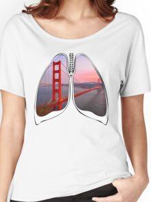 Lungs - Golden Gate Bridge Women's Relaxed Fit T-Shirt