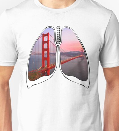 Lungs - Golden Gate Bridge Unisex T-Shirt