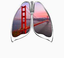 Lungs - Golden Gate Bridge Unisex T-Shirt