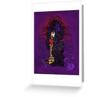Wicked Queen Nouveau Greeting Card