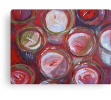 Red Votives Canvas Print
