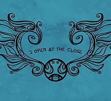 I Open at the Close - Black Version by Karen  Hallion