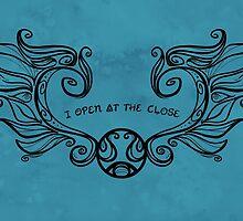I Open at the Close - Black Version by Karen  Hallion