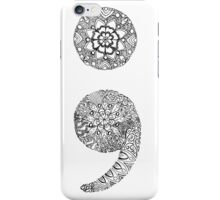 Patterned Semicolon iPhone Case/Skin