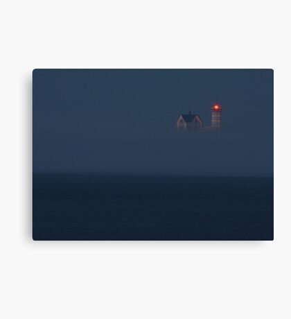 The Nubble at Night Canvas Print