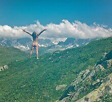 nude back joy Mont Blanc  by Rose Robin