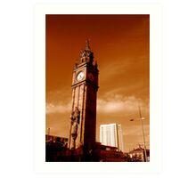 Albert Clock and Obel, Belfast Art Print
