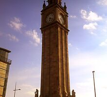 Albert Clock in colour, Belfast by Chris Millar