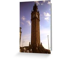 Albert Clock in colour, Belfast Greeting Card