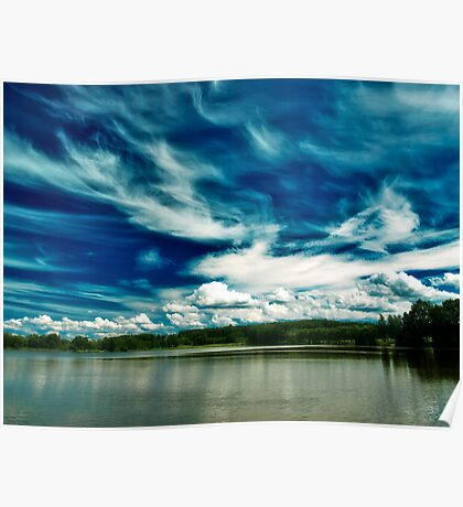 Amazing Sky over Stilec Poster