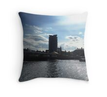 Belfast Boat Apartments across Lagan Throw Pillow