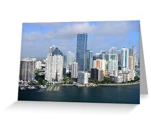 Miami: Downtown Skyscrapers Greeting Card
